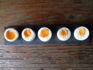 Four,Six, Eight, Ten, and Twelve Minute Eggs.